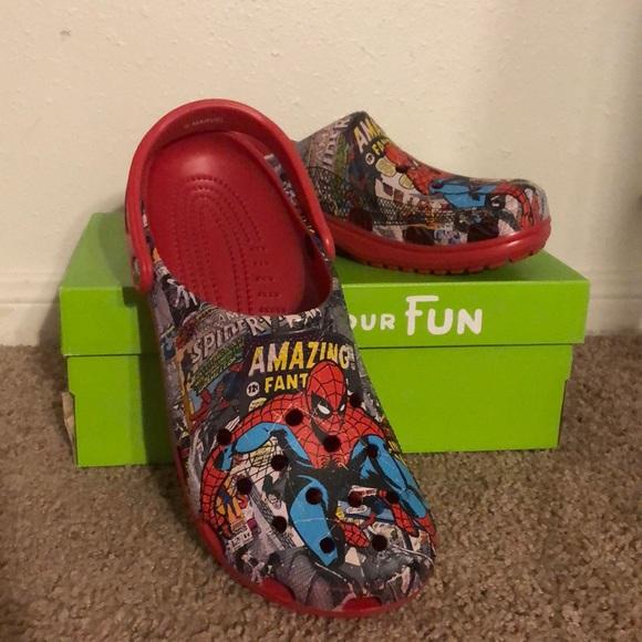 Rare New Unisex The Amazing Spider Man Crocs